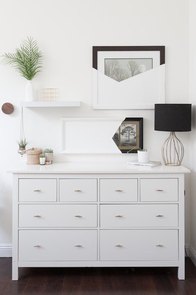 IKEA white dresser styling
