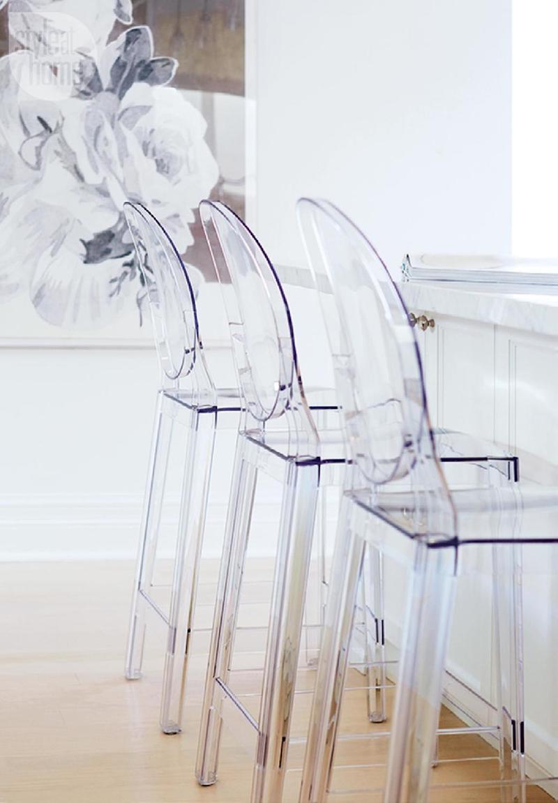 Lucite kitchen bar stools