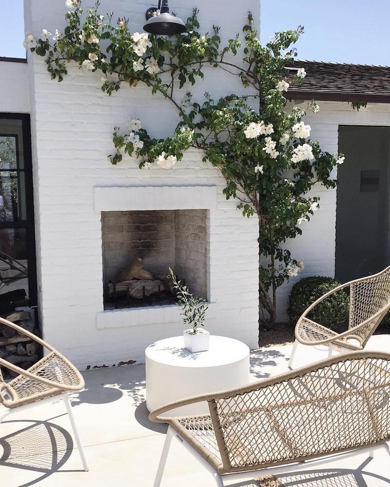 Wicker outdoor chairs via Brady Tolbert