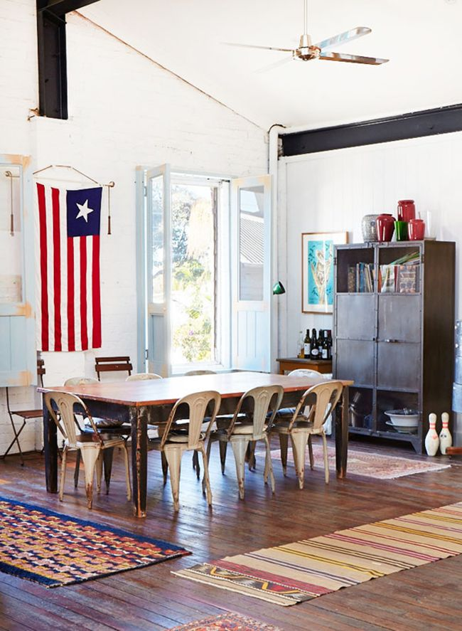 Americana dining room via the Design Files
