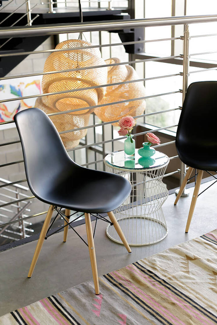 Black Eames Chairs in office