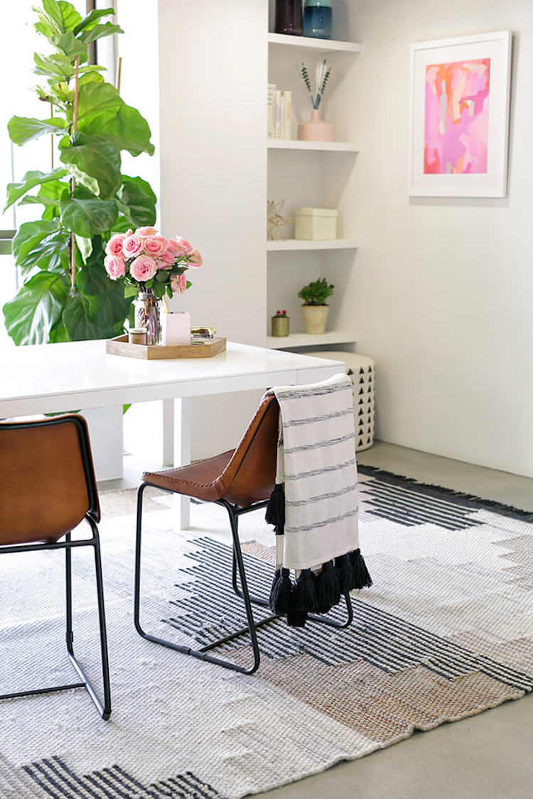 Brown leather chairs in LA office