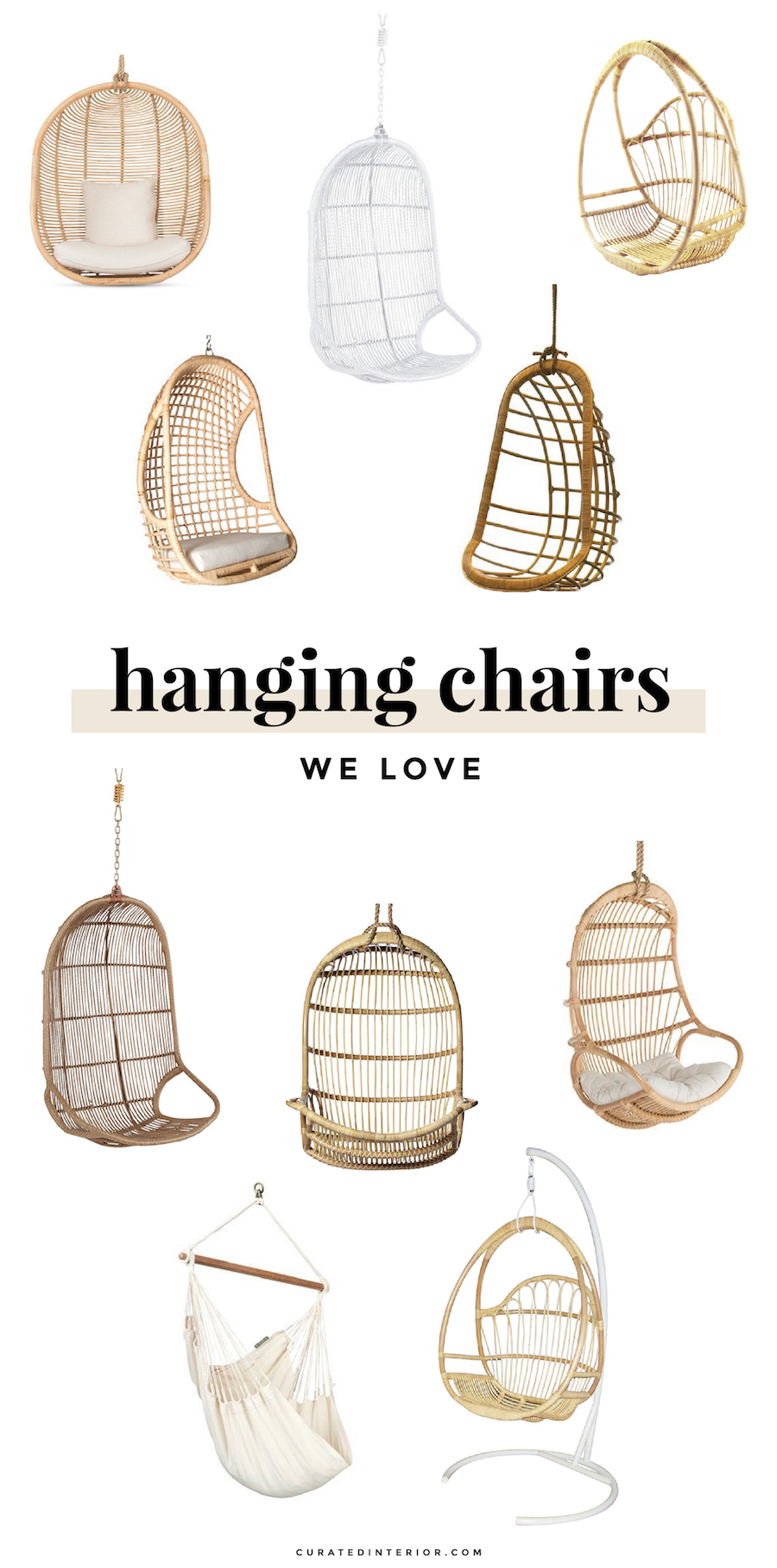 Hanging Chairs and Swingasans for the Home