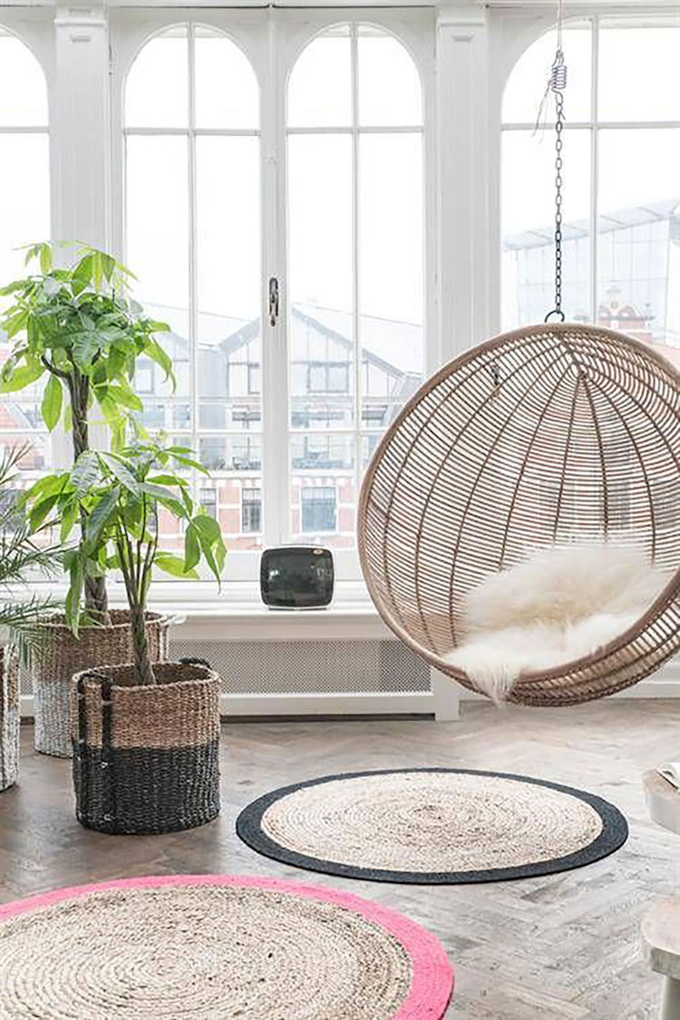 Sphere hanging chair via Anthropologie