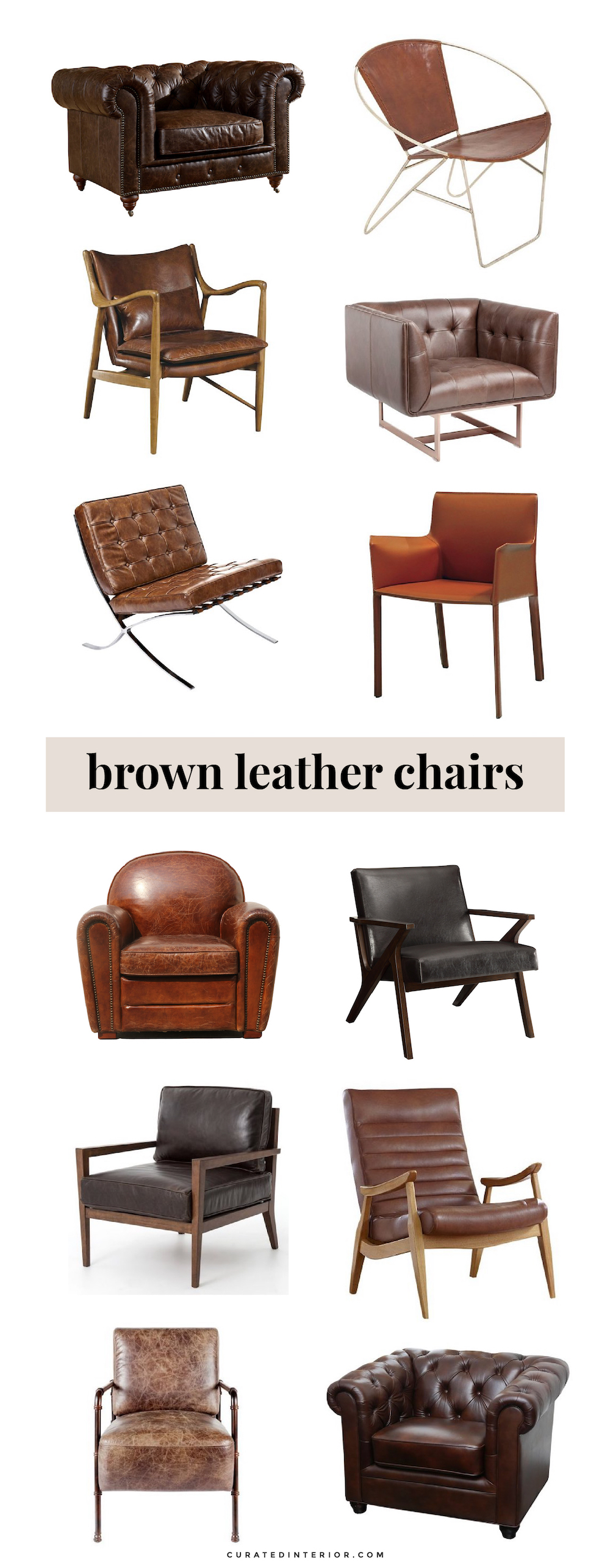 Stupendous 12 Gorgeous Brown Leather Chairs For The Home Pdpeps Interior Chair Design Pdpepsorg
