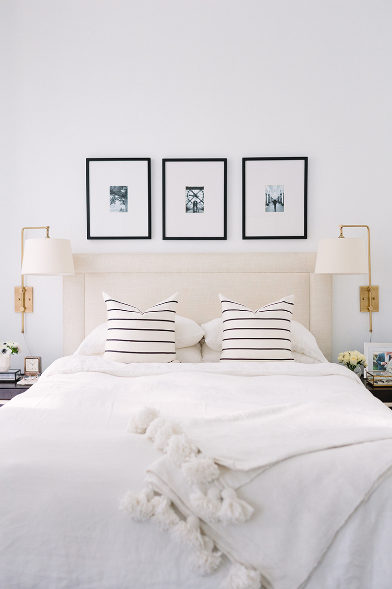 French-Inspired Bedroom Neutral Headboard
