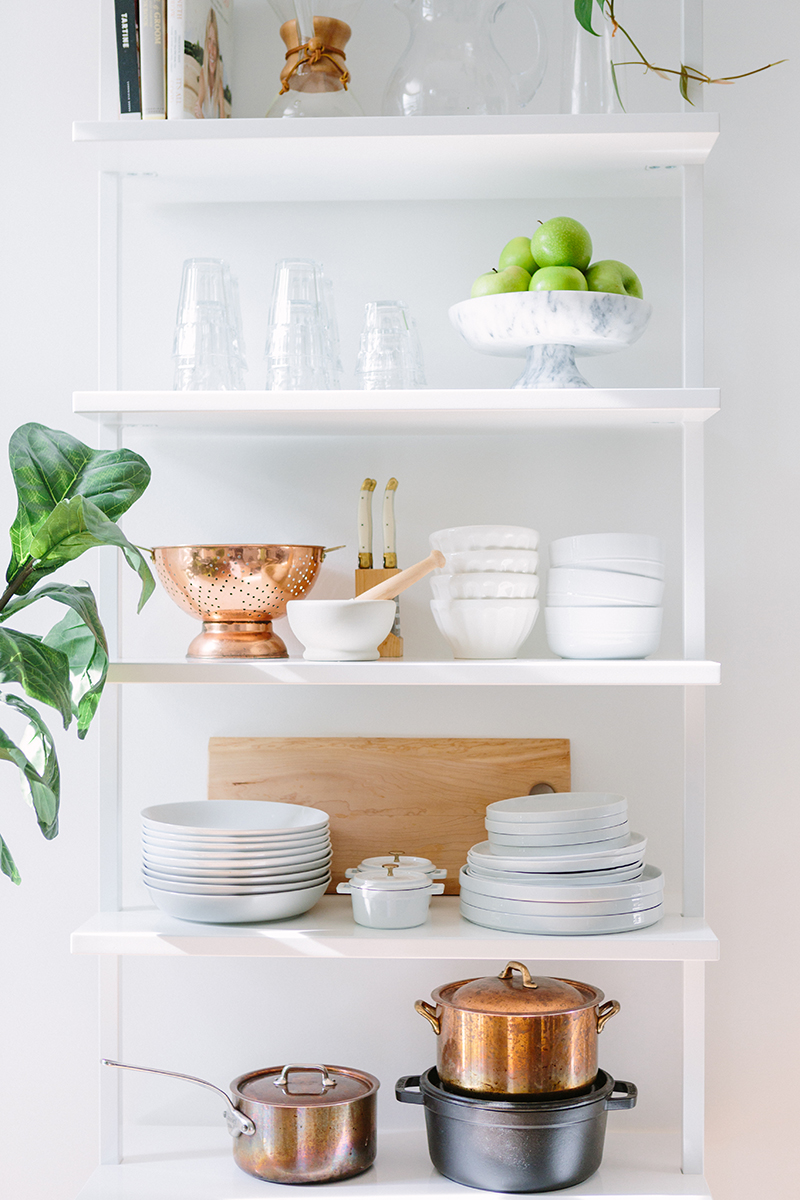 French-Inspired Kitchen Open Shelving