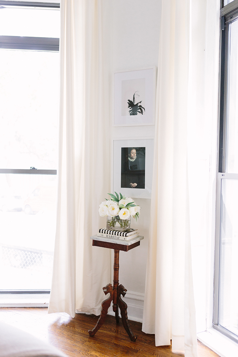 French-Inspired Living Room Sheer White Curtains