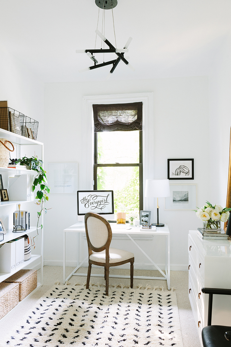 French-Inspired Office with Louis Chair