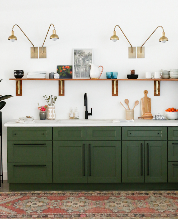 Green Kitchen Cabinets Images: 10 Lovely Kitchens With Open Shelving