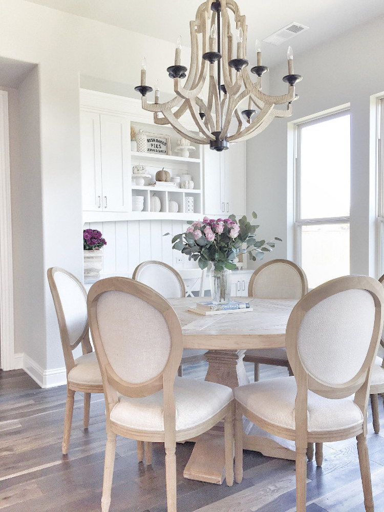 Nude Louis XVI Dining Chairs In Wood