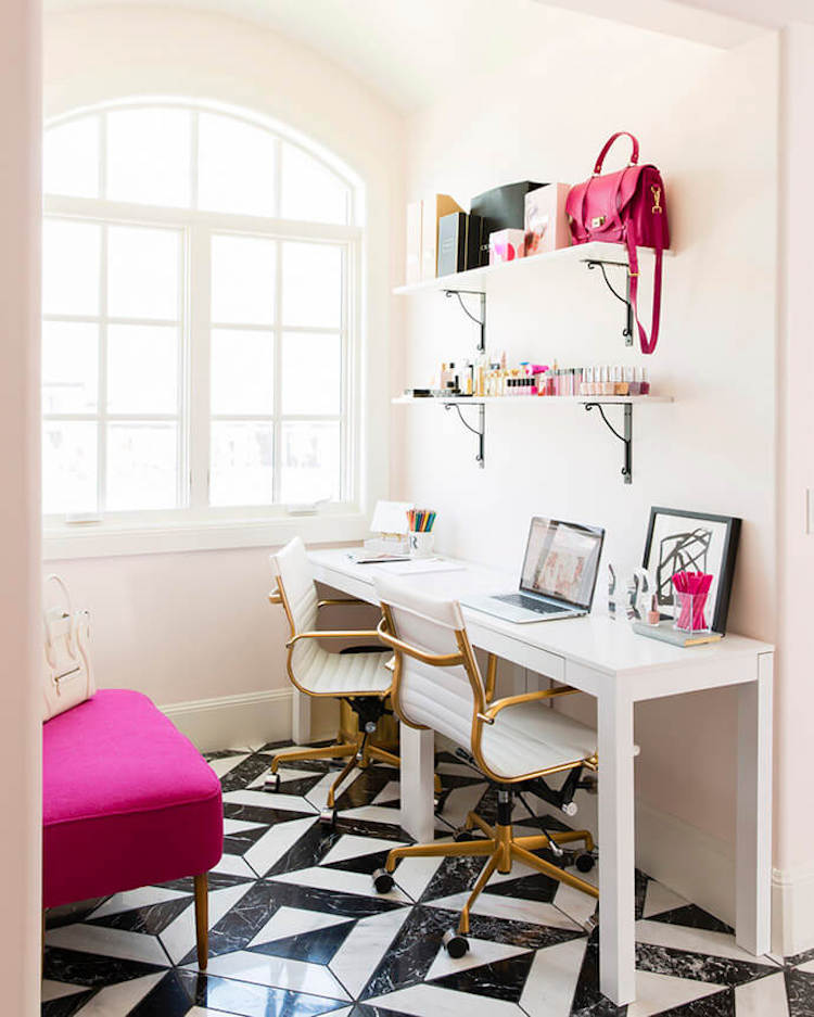 Rachel Parcell Office Tour via Glitter Guide