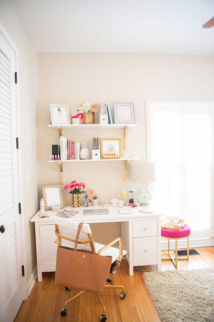 Small office desk chair via The Fashionista's Diary