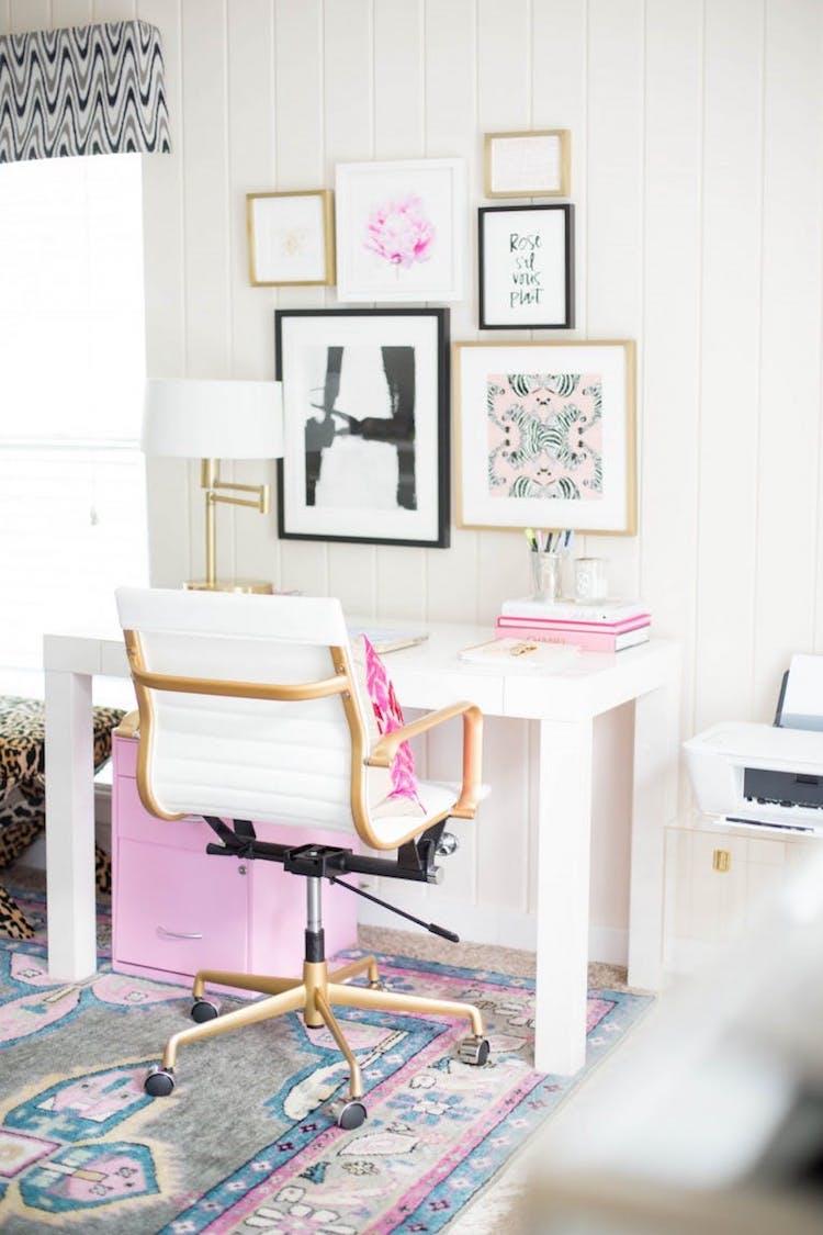 White office chair via Chronicles of Frivolity