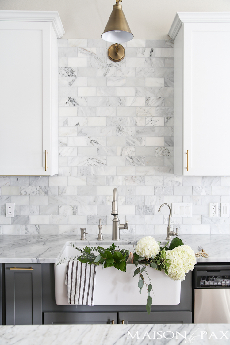 Terrific 14 White Marble Kitchen Backsplash Ideas Youll Love Download Free Architecture Designs Embacsunscenecom
