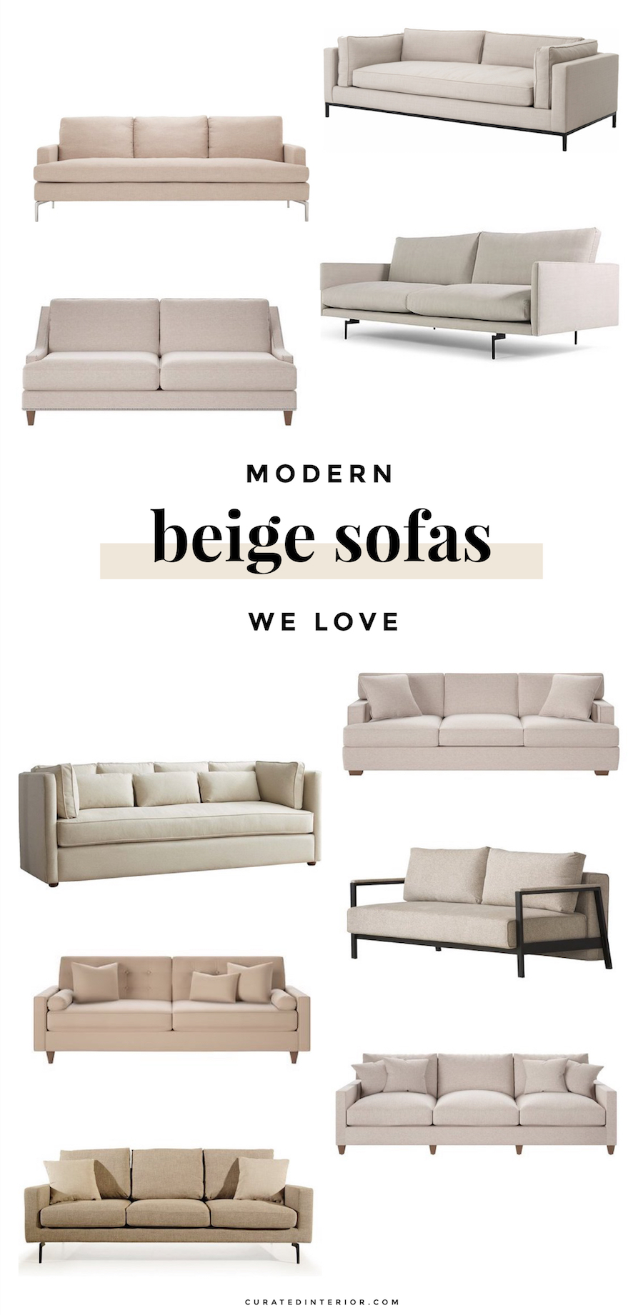 Modern Beige Sofas We Love