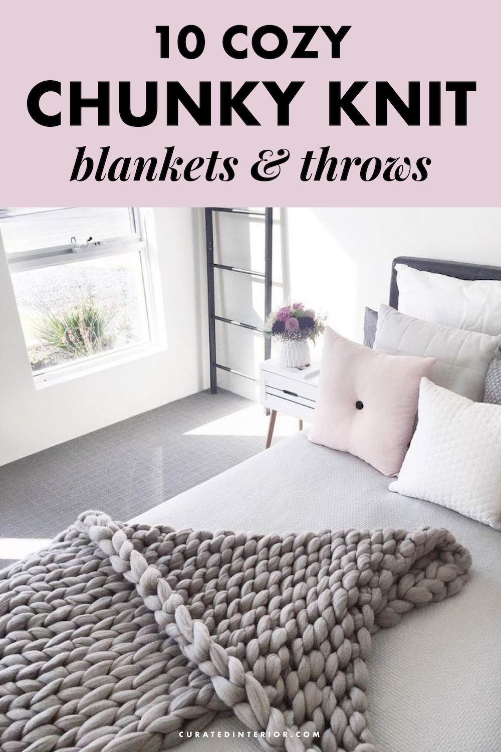 10 Cozy Chunky Knit Blankets and Chunky Knit Throws! #blankets #throws