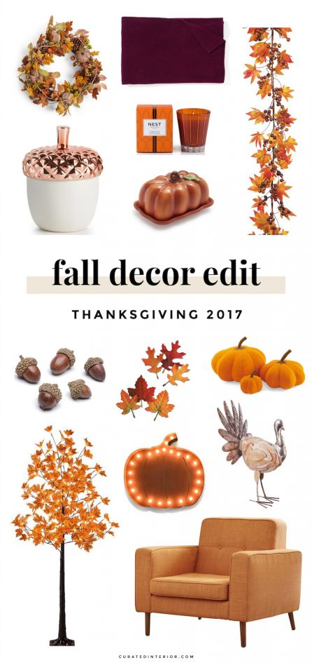 Fall Decor Edit 2017 Happy Thanksgiving