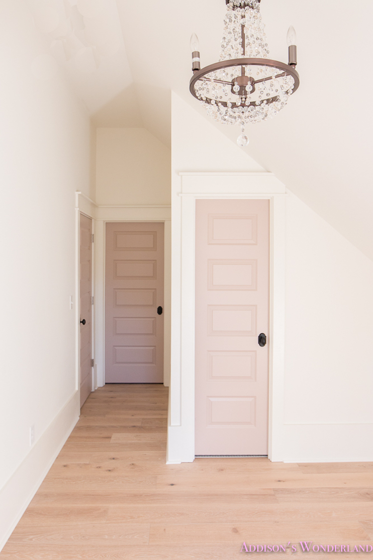 Muted Pink Interior Closet Door Via Addisonu0027s Wonderland