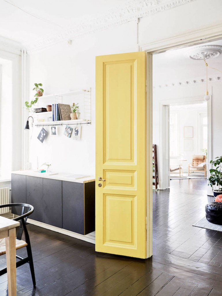 Ever Thought About Painting A Door In Your Home Pink Or Green This Post Is For You I Love The Idea Of Closet Pantry Other Interior