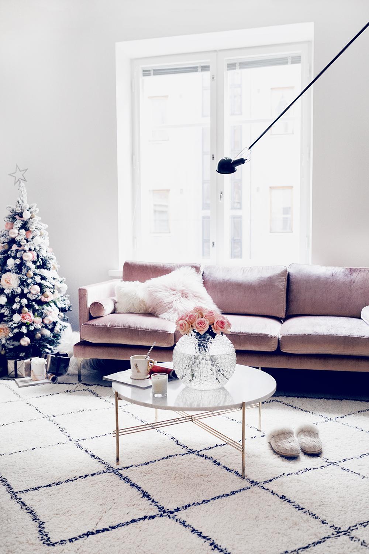 Alexa Dagmar's Blush Pink Christmas Living Room