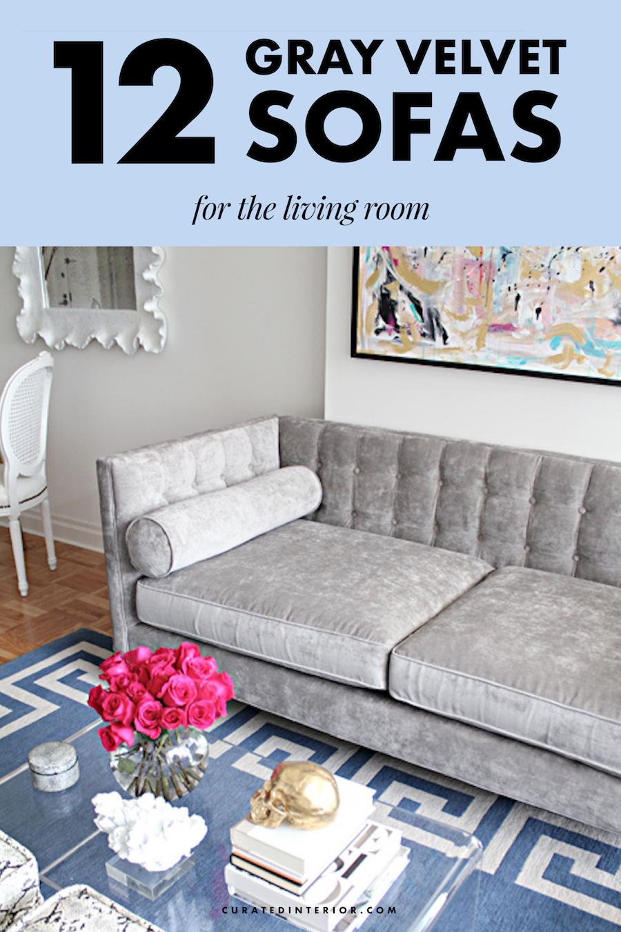 Gray Velvet Sofas, Grey Velvet Sofas, Living Room Sofas, Velvet Couches, Gray Velvet Couch, Grey Velvet Couch