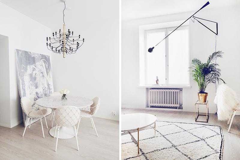 Alexa Dagmar Dining room with marble table