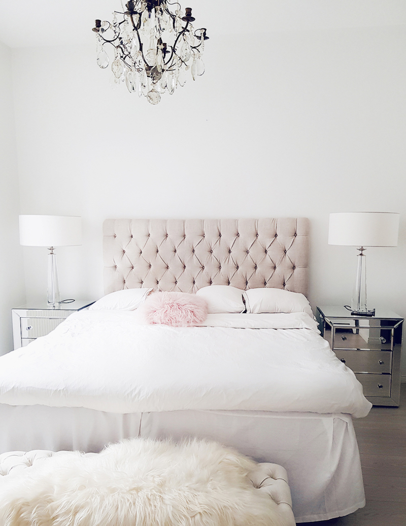 Alexa Dagmar Neutral tufted headboard