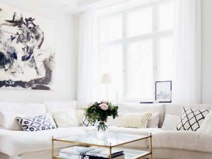 Alexa Dagmar's Cozy Gold & Neutral Home in Finland