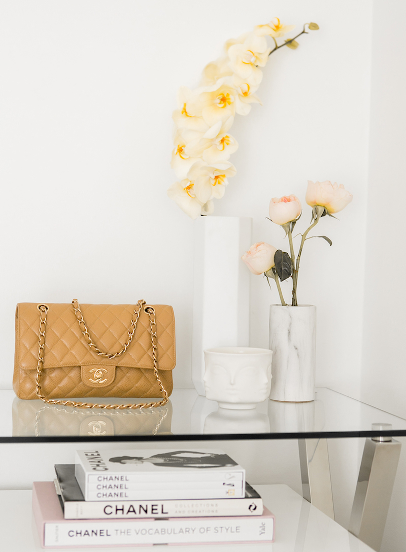 Chanel bag with flowe vases styling via Sydne Summer