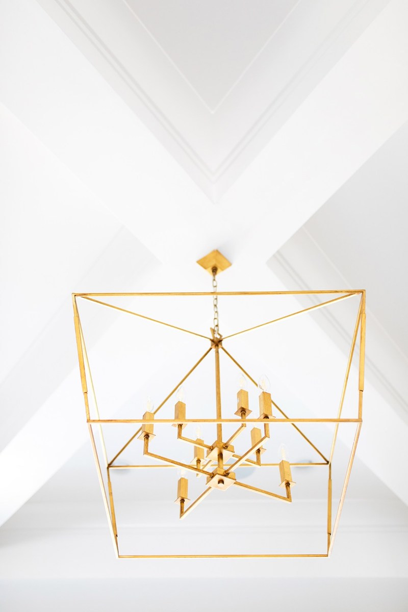 Gold cage lighting on ceiling via EInteriors