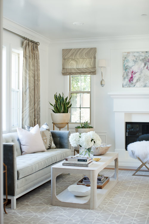 Muted grey living room by Nicole Davis
