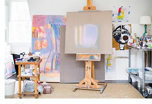 Sally King Benedict's home art studio