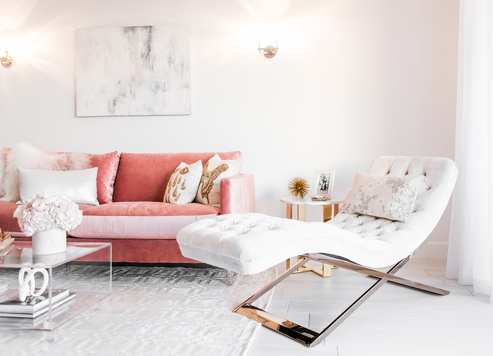 Sydne Summer S Gorgeous West Hollywood Home In Blush Amp White