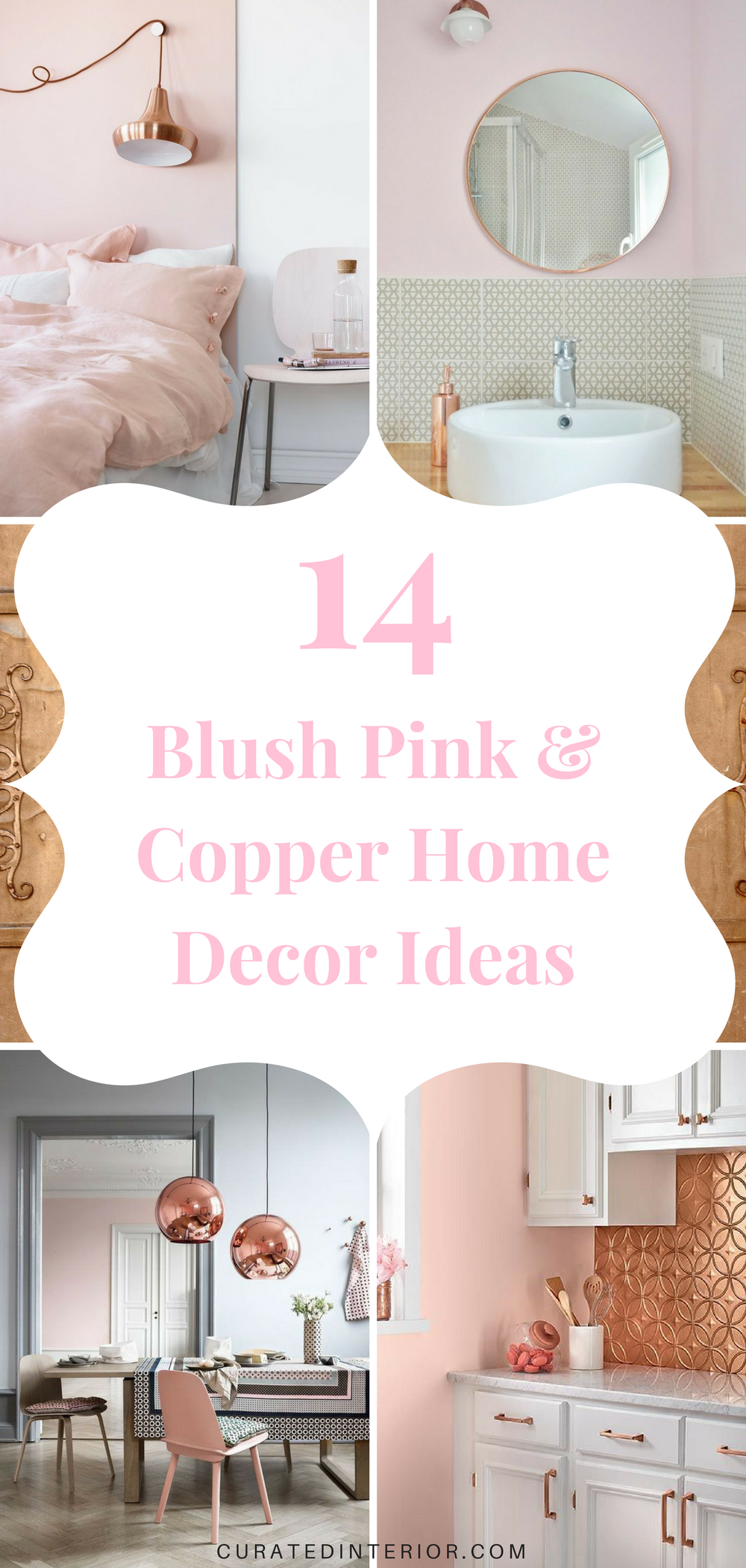 Blush Pink & Copper Home Decor Ideas