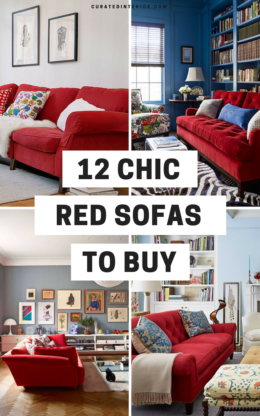 12 Best Red Sofas To Buy
