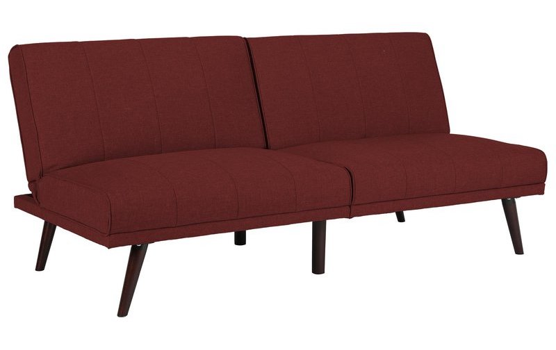 Affordable Burgundy Red Convertible Sofa