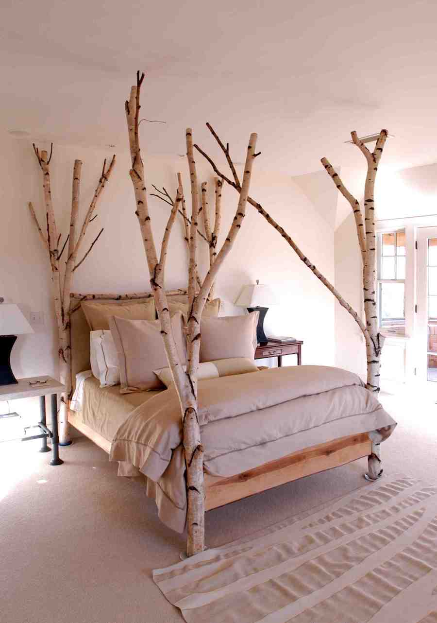 Birch Tree Brand Four Poster Bed
