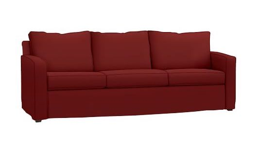 Deep Red Sleeper Sofa