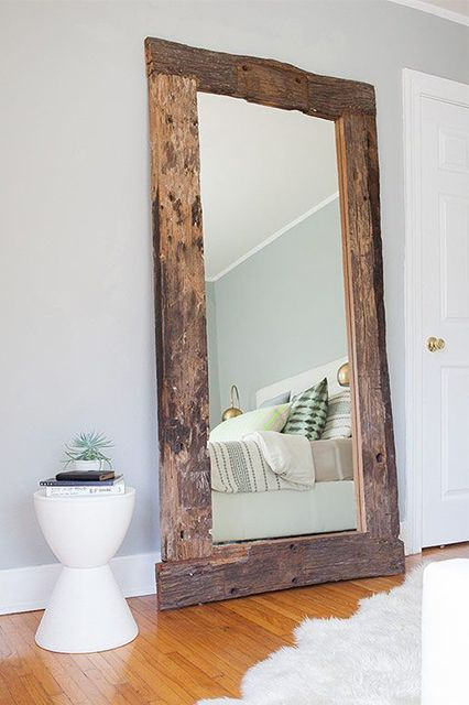 Rustic Decor Reclaimed Wood Mirror