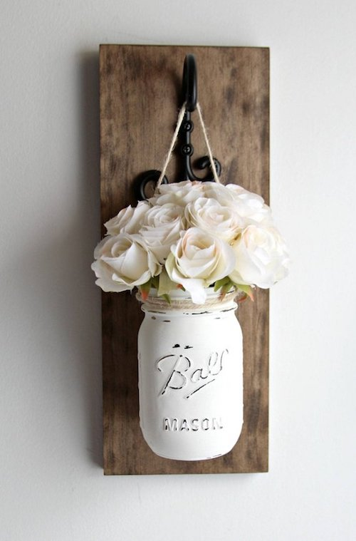 Rustic Home Decor Mason Jar Ideas #rustic