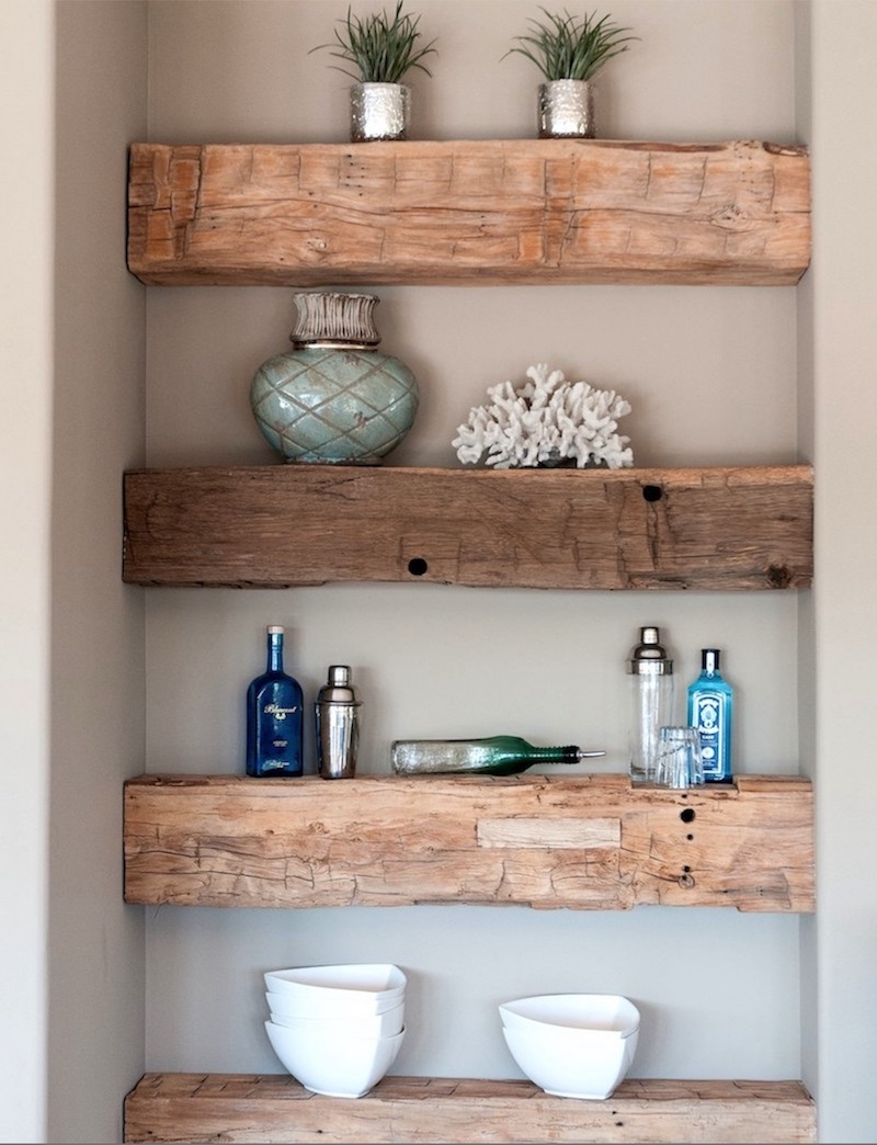 Rustic Floating Wood Shelves Reclaimed Wood Decor