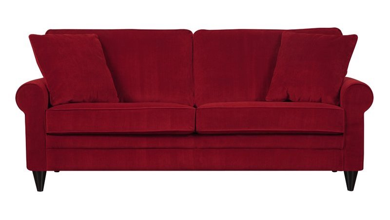 Simple Modern Red Sofa