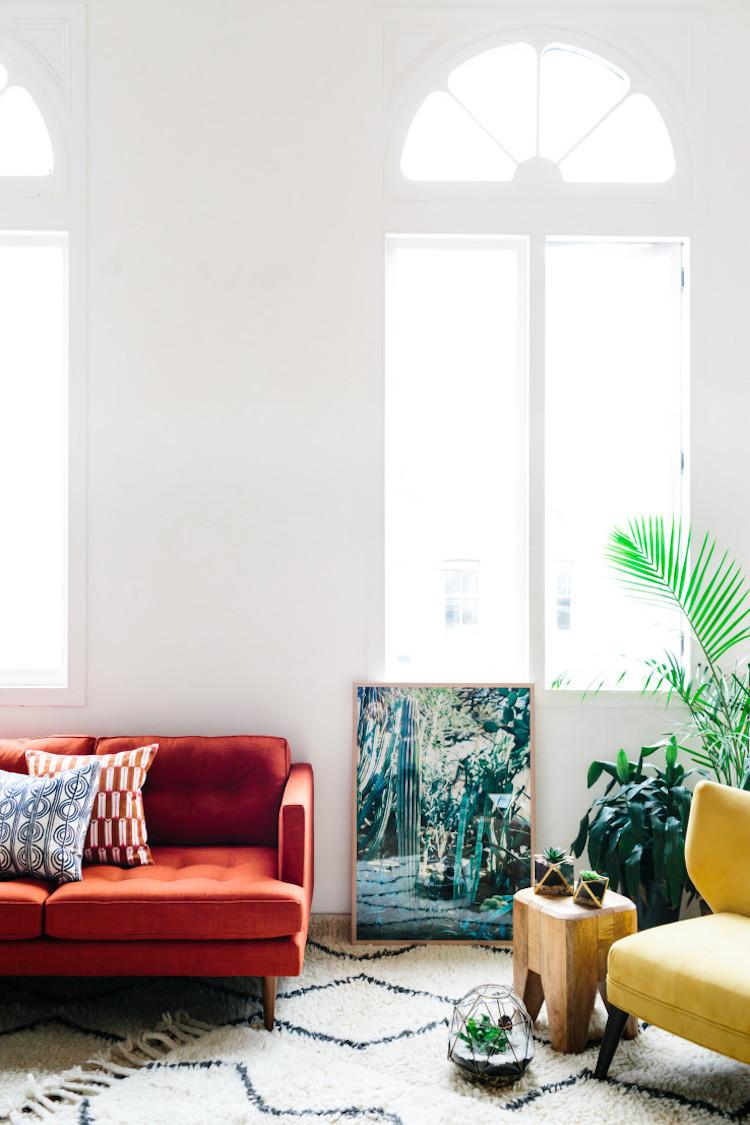 West Elm Red Sofa