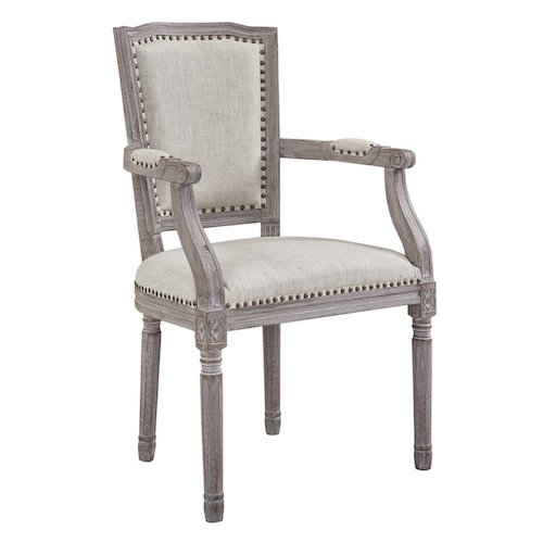 French Country Accent Chairs - Vintage French Upholstered Dining Chair Varnado