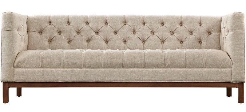 Beige Chesterfield Tufted Sofa