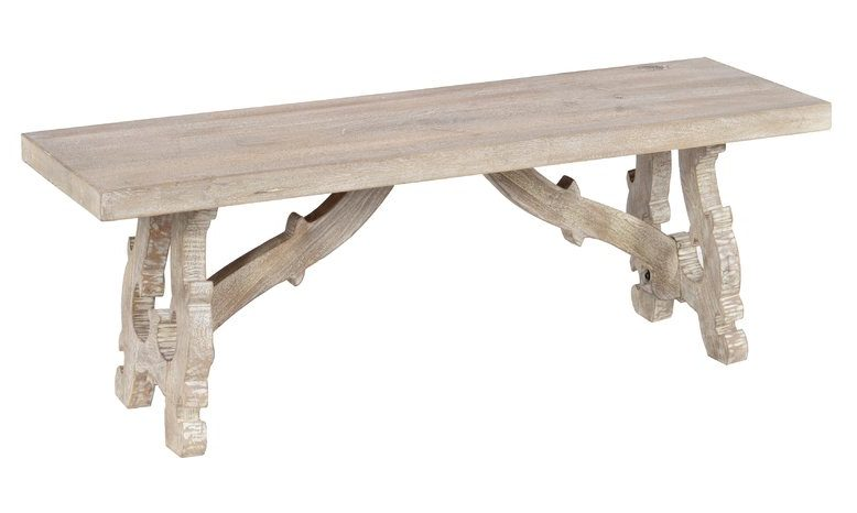 Coastal Entryway Wood Bench