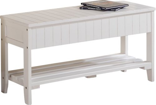 Coastal Panel Entryway Bench