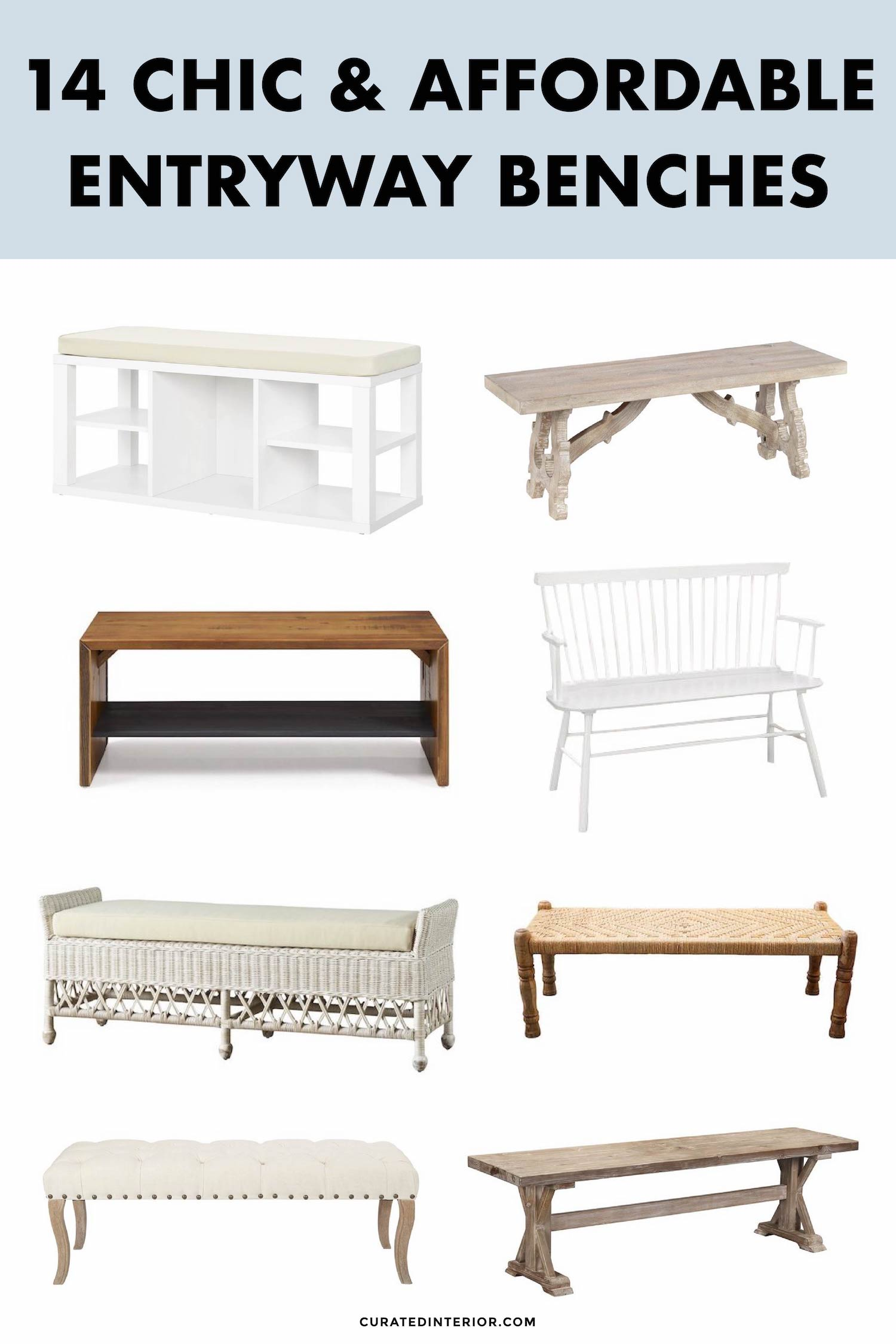 Entryway Benches We Love