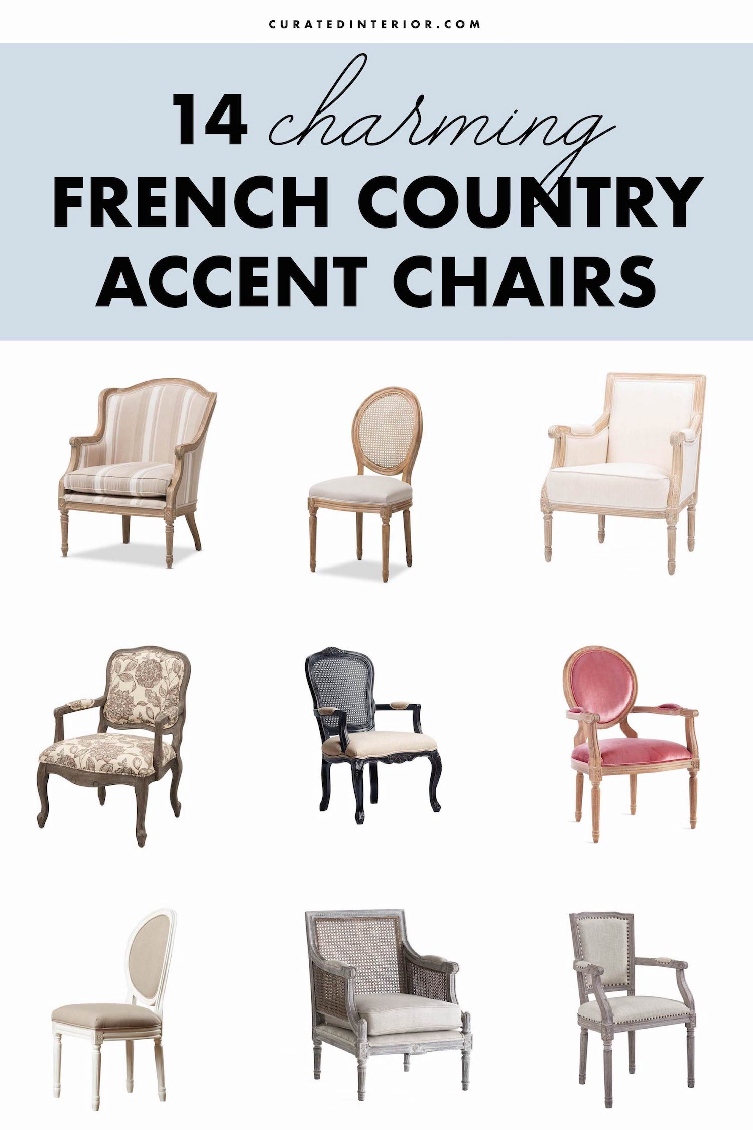 French Country Accent Chairs For The Living Room We Love